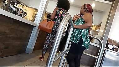 Big booty African milfs at burger king