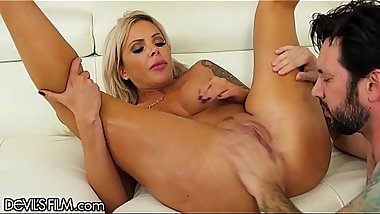 DevilsFilm Busty MILF Cheats With Guy Who Makes Her SQUIRT