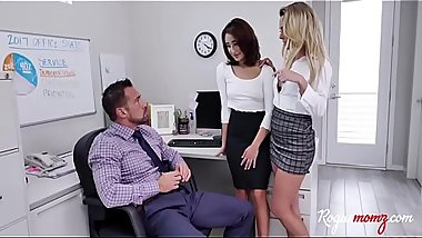 MILF aunt teaches me to FUCK boss