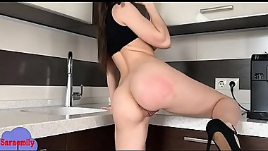 fucking her self with dildo