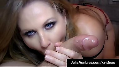 Cock Hungry Milf Julia Ann Sucks Your Hard Cock POV!