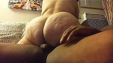 Big ass bbw latina slut rides bbc til she cums