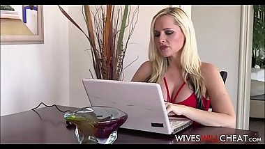 Big Ass Blonde Wife With Big Tits Alena Croft Cheats On Husband With Younger Guy From Internet