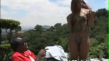 Big tittied dark woman screwed hard by her ebony boyfriend
