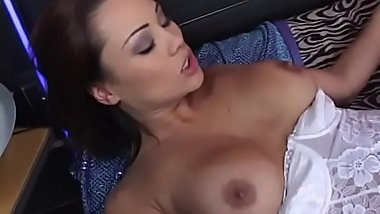 Asian nurse Rose sucks a thick dong and fucks it in bed