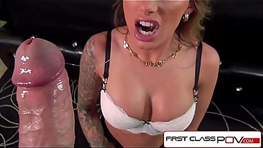 FirstClassPOV - Juelz Ventura sucking a monster cock, bubble butt &amp_ huge tits