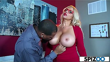Spizoo - Karen Fisher is fucked by a Big Black Cock, big booty &amp_ big boobs