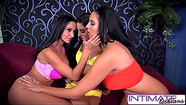 Spizoo - Ava Addams, Missy &amp_ Trinity dildo pounding action &amp_ pussy licking