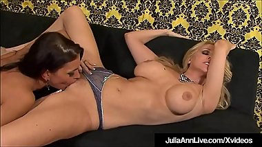 Hot Sexy Milfs Julia Ann &amp_ Jessica Jaymes Eat Each Other Out