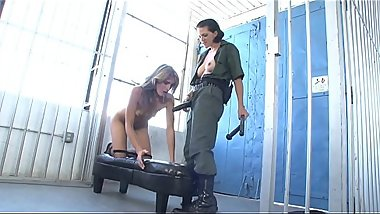 Prisoner Kara Price  and officer Roxanne Hall can'_t keep their naughty hands off of each other