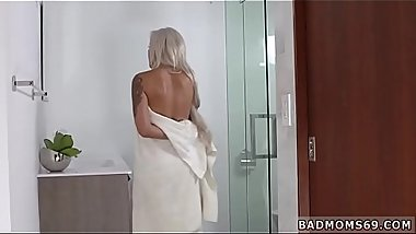 Big ass mom associate'_s daughter threesome She stopped him in his