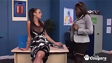 Emma Butt And Jasmine Webb Have Some Crazy Office Sex