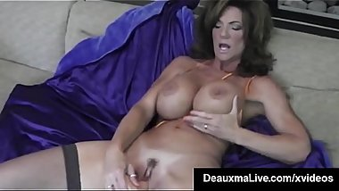 Hot Blooded Cougar Deauxma Dildo Fucks Her Pussy &amp_ Squirts!