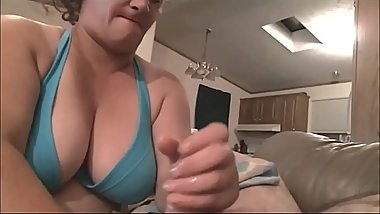 Chubby Wife Taking Care of her Hubby'_s Cock