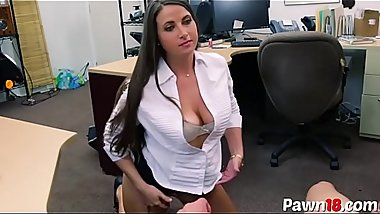 Sexy MILF Sucks and Fucks at Pawnshop
