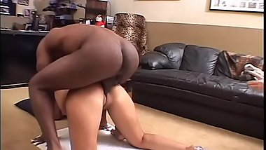 She gets this oiled black cock