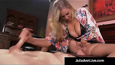 Boy Toy Gets Smothered By Glamorous Milf Julia Ann'_s Pussy!