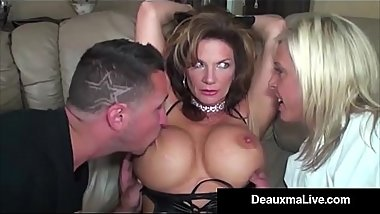 Role Play by Sexy Cat Woman Milf Deauxma Ends In 3 Way Fuck!