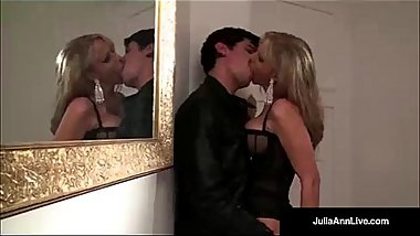 Classy Milf Julia Ann Bangs Denis Marti &amp_ Gets Cum in Mouth!