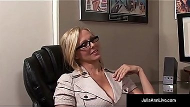 Office Milf Julia Ann Sucks Cock &amp_ Gets Hot Sticky Facial!
