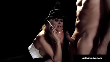 MILF Star, Julia Ann Gives A Smokin BJ &amp_ Fucks Guy On Stage!