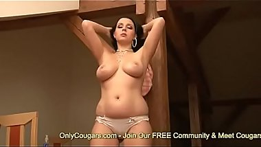 Angela Dabola Takes Off Her Thong &amp_ Fucks Her Fat Pussy