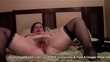 BBW With Big Saggy Tits Finger Bangs