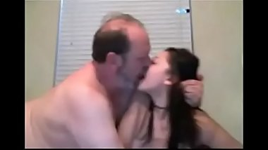 Mature Man and Young Girl Webcam