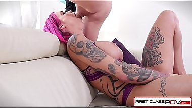 FirstClassPOV - Miss Peaks loves to suck and fuck big huge cock