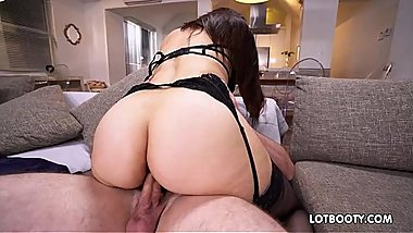 Fat ass busty latina MILF Sophie Leon fucking in stockings