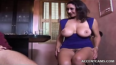 Hunk Licks Busty Milfs Cunt Before She Sucks Him